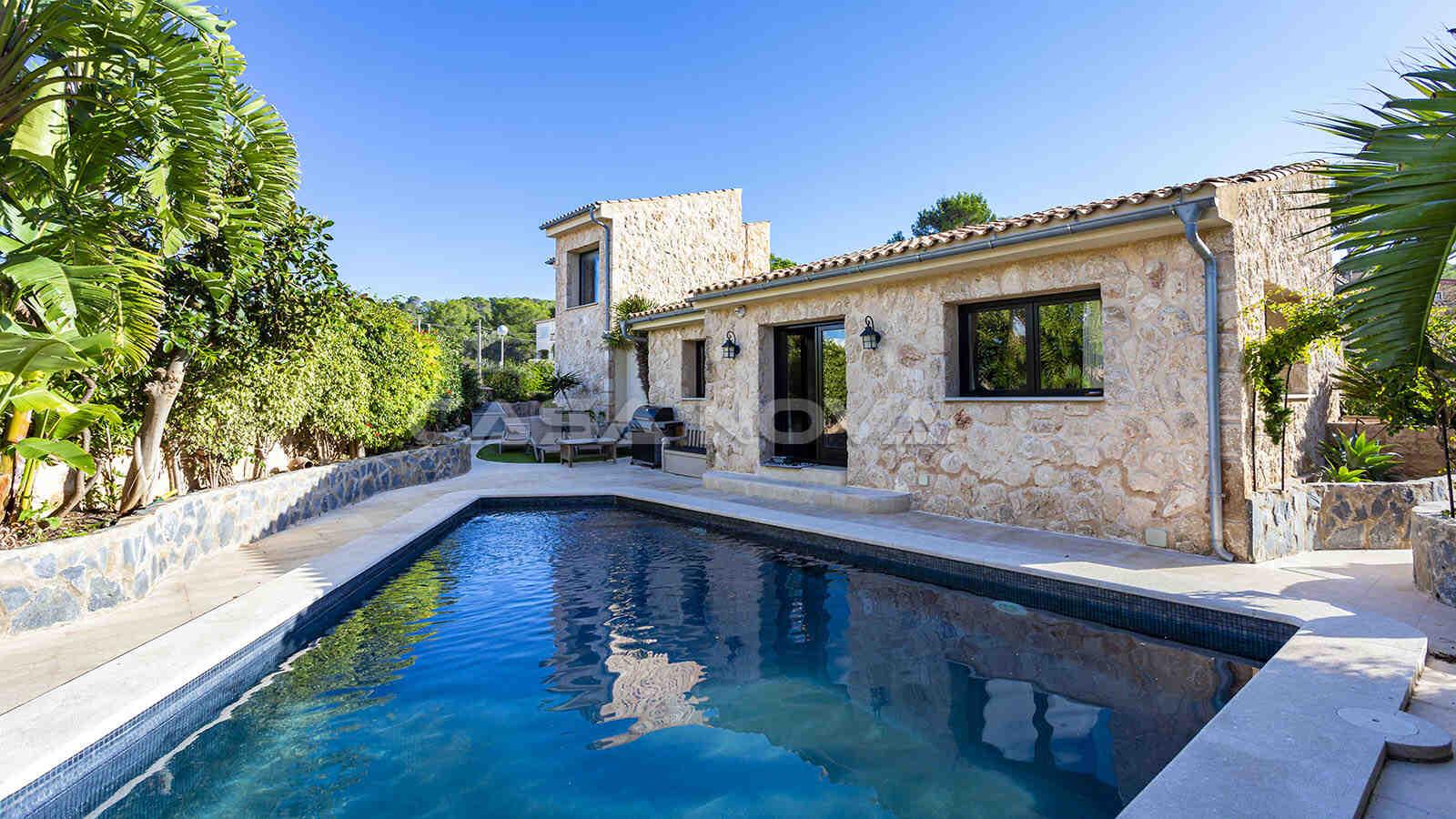 Rustikale Villa im Finca Still nahe Port Adriano