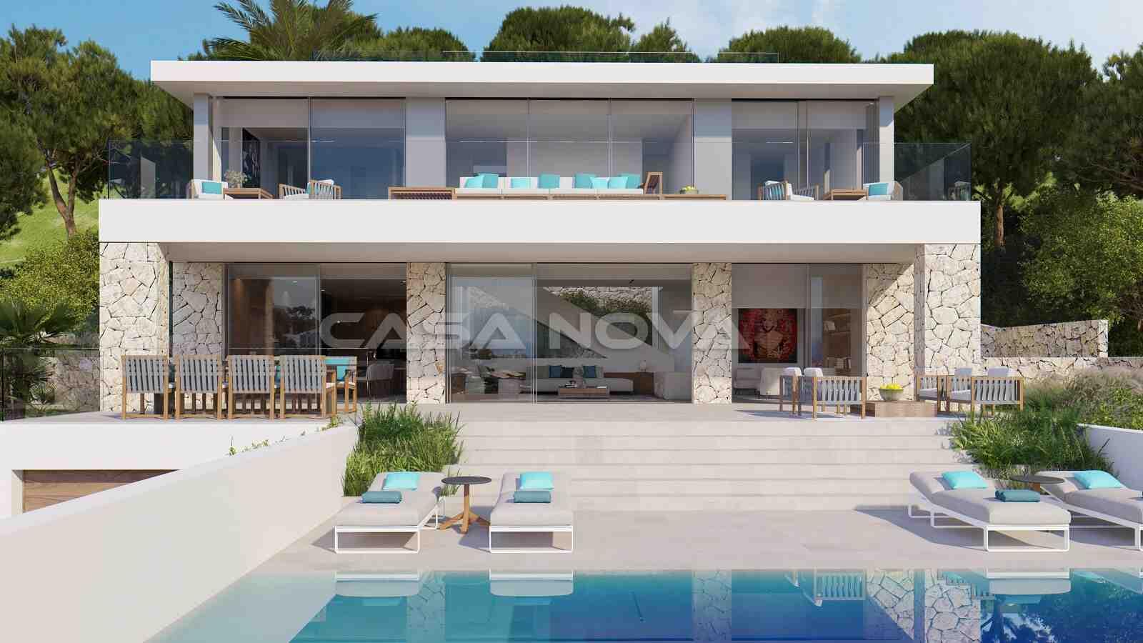 Extravagante Neubau- Villa mit einzigartigem Meerblick