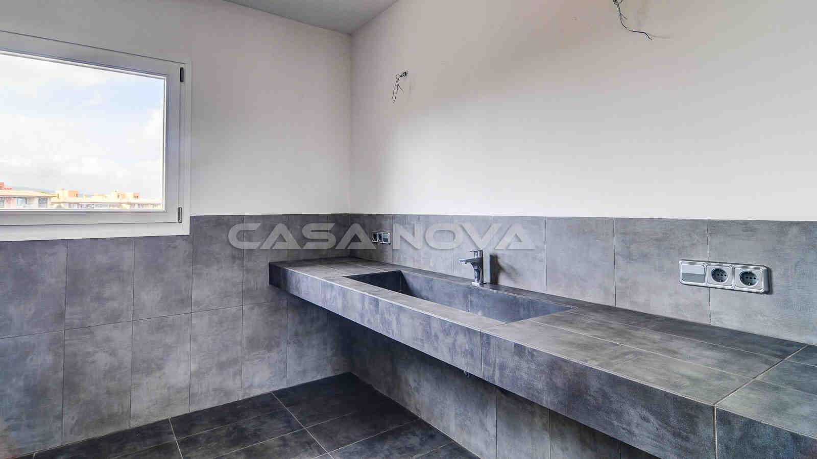 Schicke Badezimmer mit edler Ausstattung