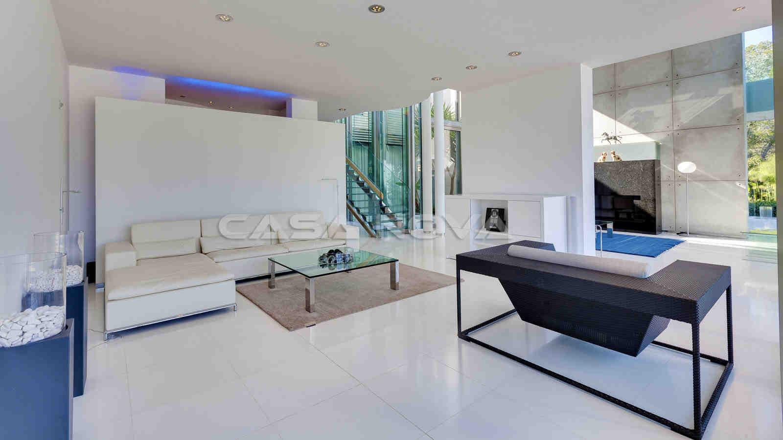 Elegant eingerichteter Wohnbereich der Immobilie Mallorca
