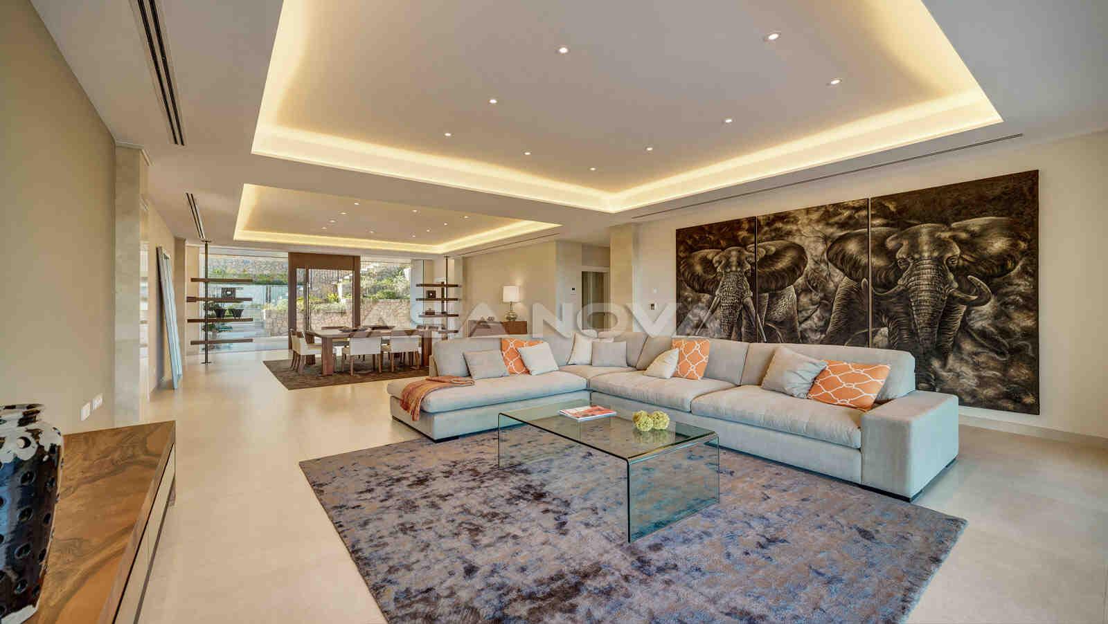 Geschmacksvoll Eingerichteter Wohnbereich mit viel natürlichem Lichteinfall