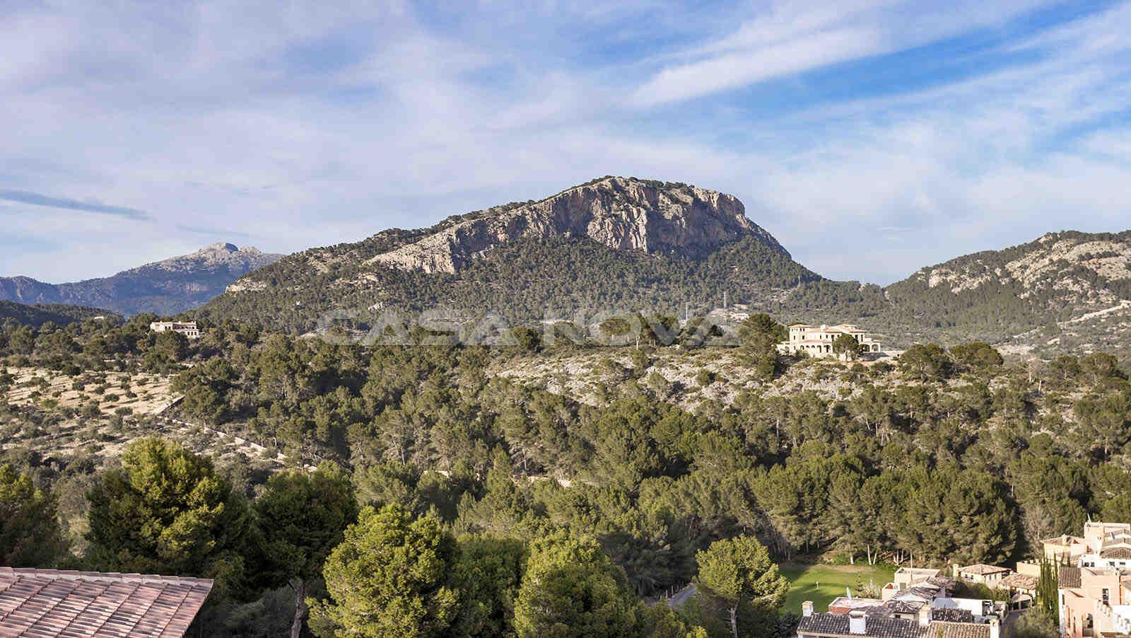 Wundervoller Panorama- Landschaftsblick