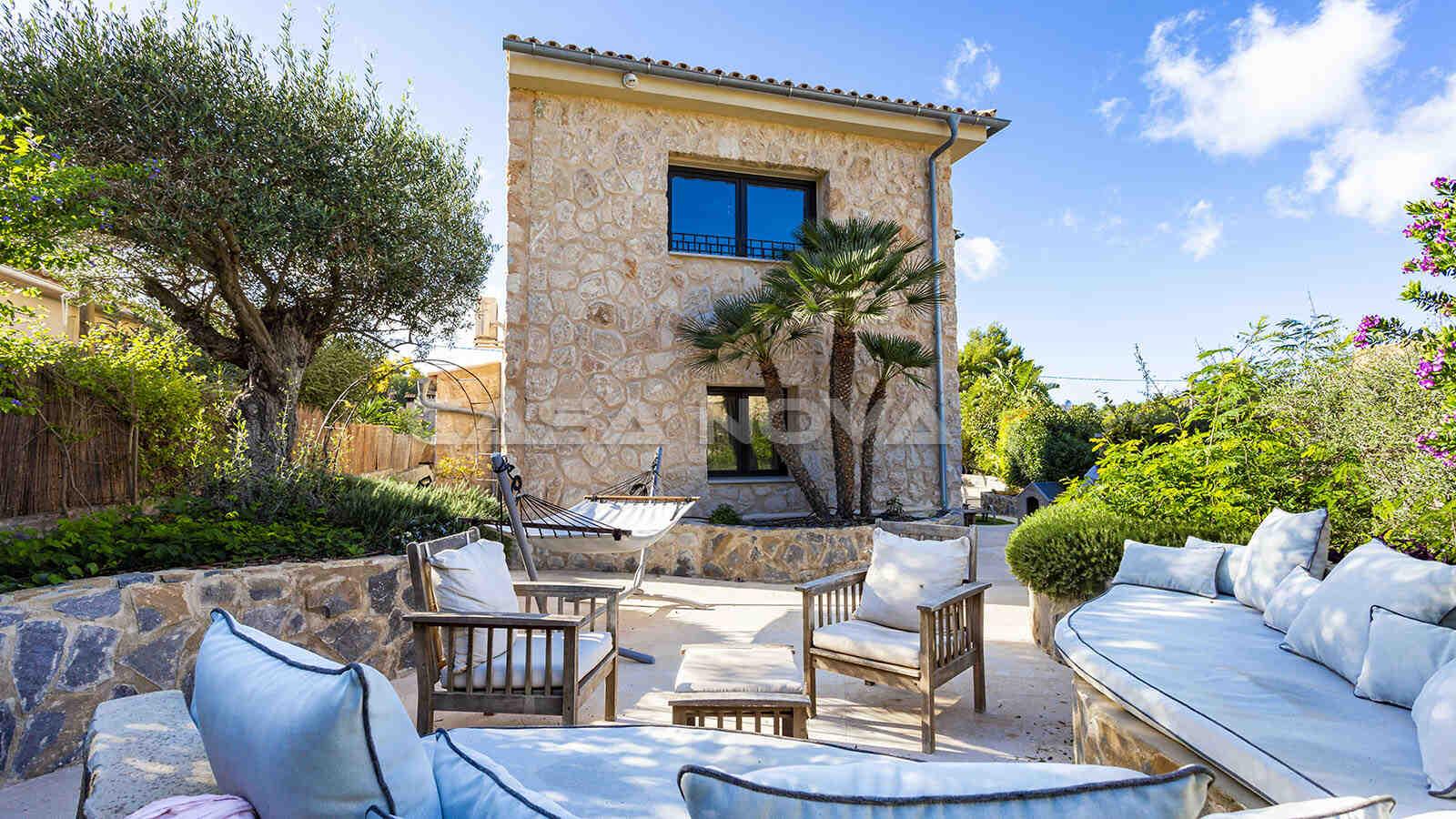 Mediterrane Villa Mallorca mit Natursteinelementen