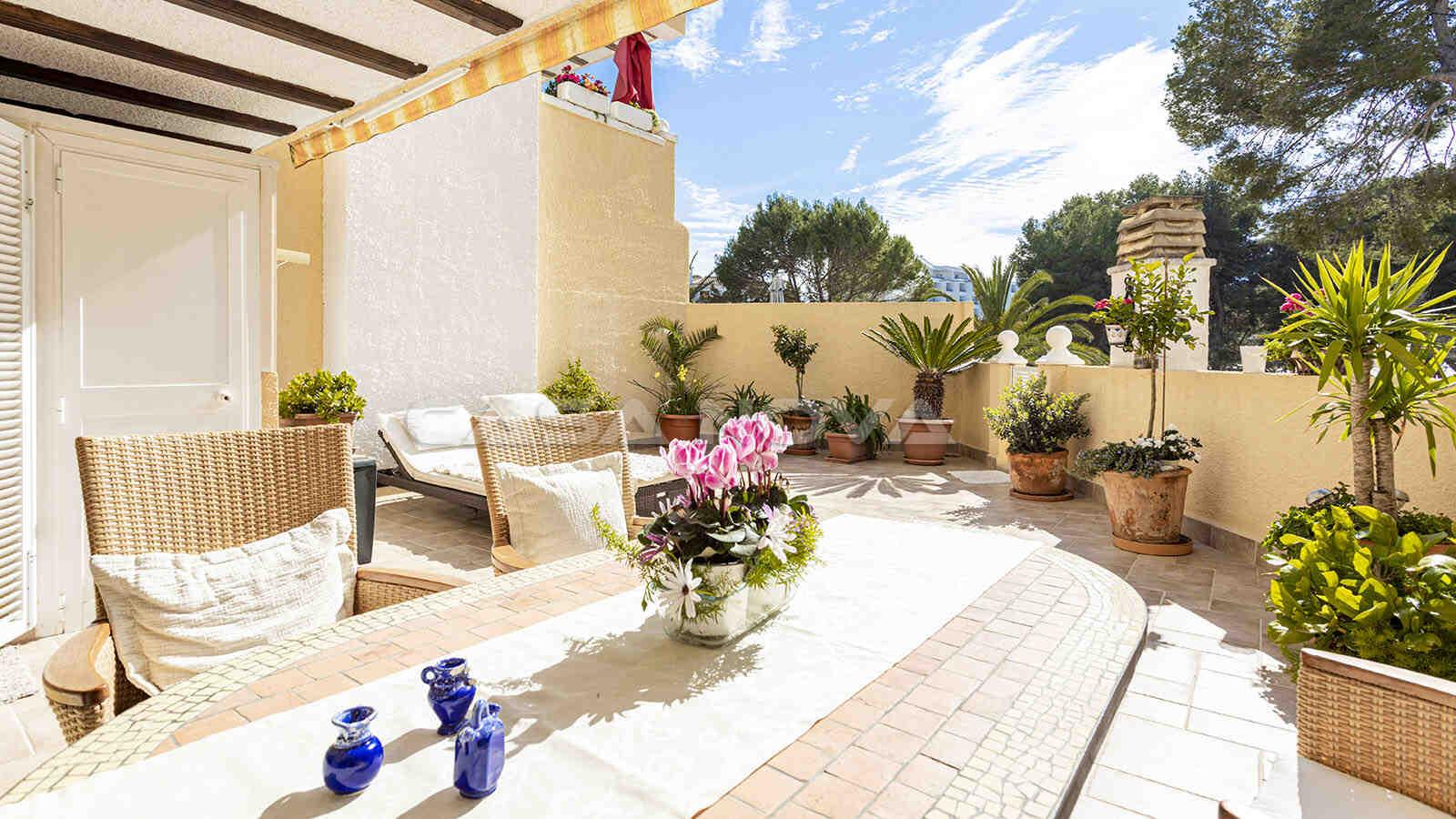 Wunderschöne Terrasse mit mediterranem Flair