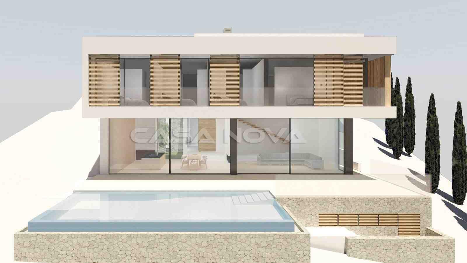 Render der luxuriösen Villa in Son Vida