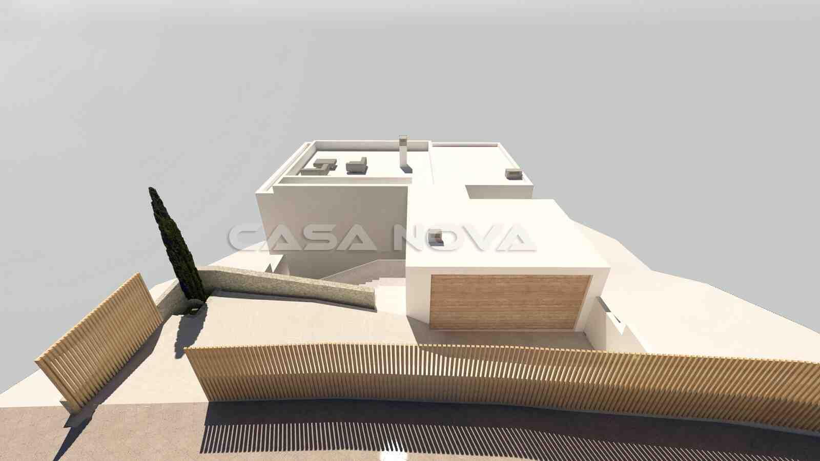 Einfahrt und Garage des Villenprojektes in Son Vida