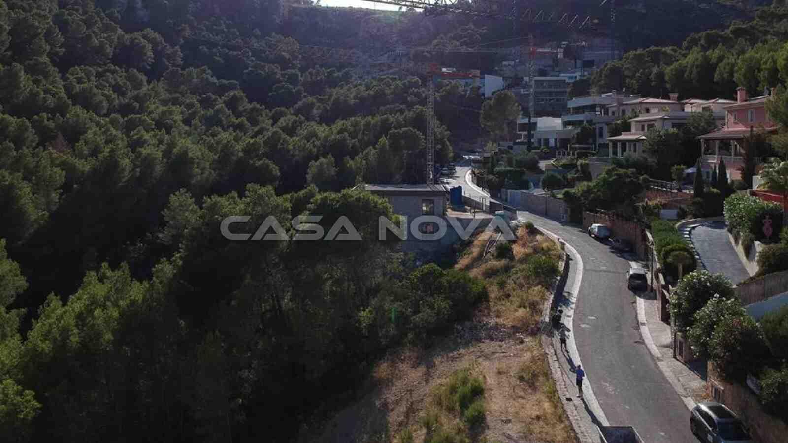Luftaufnahme vom fantastischen Baugrundstück in Son Vida
