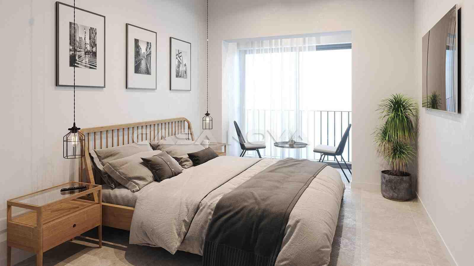 Lichtdurchflutetes Schlafzimmer der Immobilie Mallorca