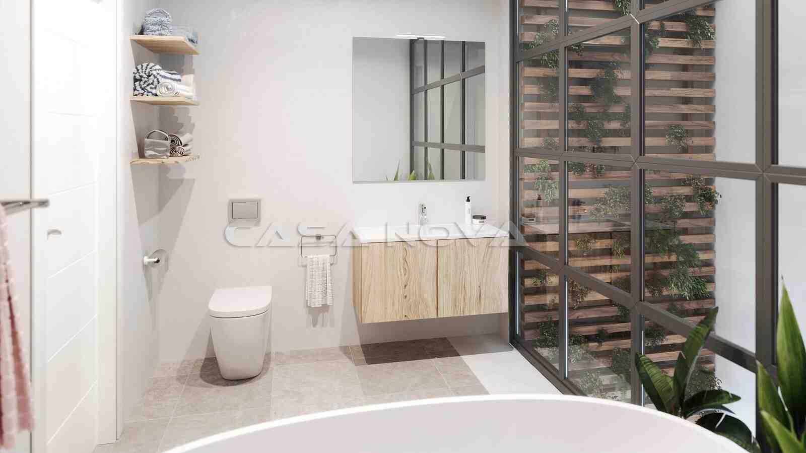 Helles Badezimmer mit moderner Ausstattung