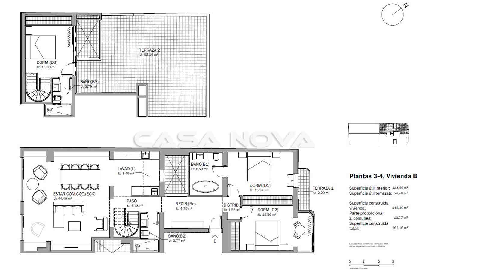 Pläne vom Duplex- Penthaus Mallorca