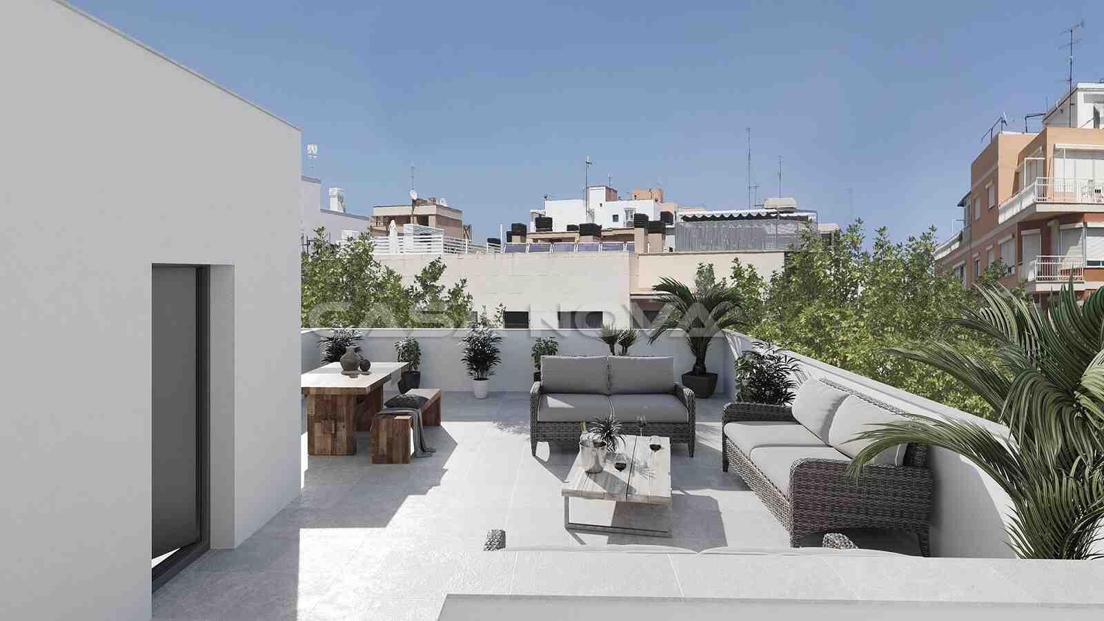 Moderne Dachterrasse mit genügend Privatsphäre