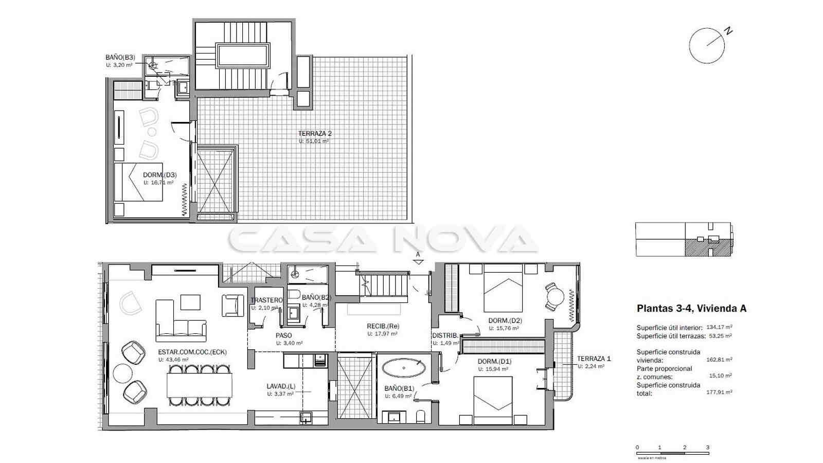 Plan des Mallorca Duplex- Penthaus Apartments
