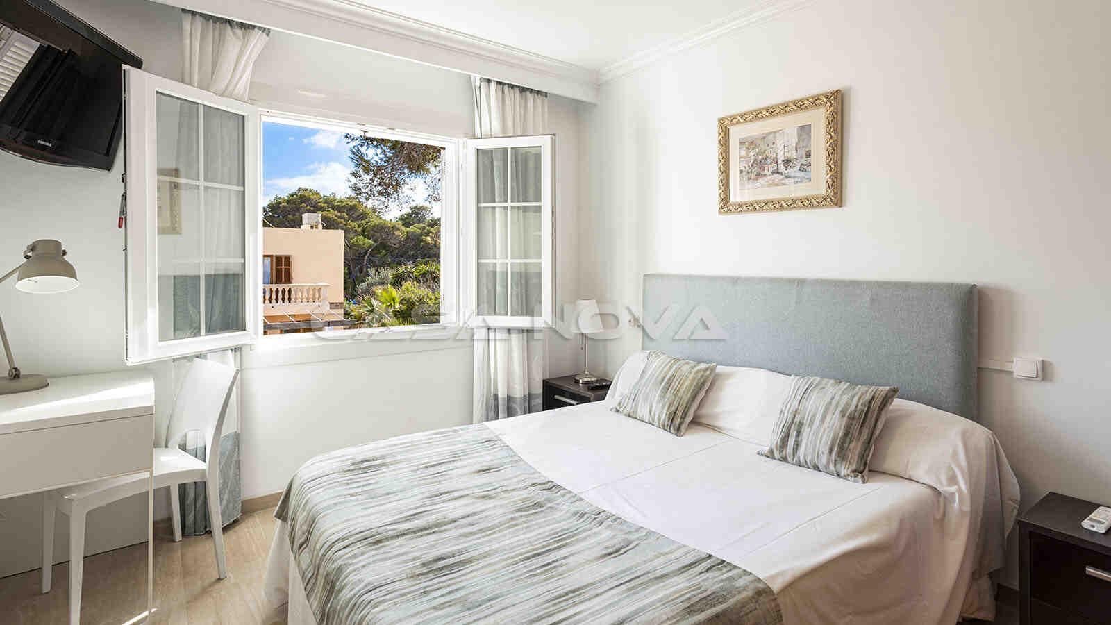 Weiteres Doppelschlafzimmer mit ruhigem Ausblick