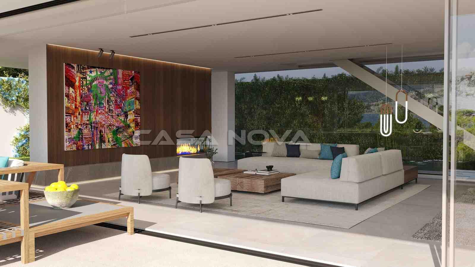 Modernes Wohnzimmer mit vielen Gestaltungsmöglichkeiten