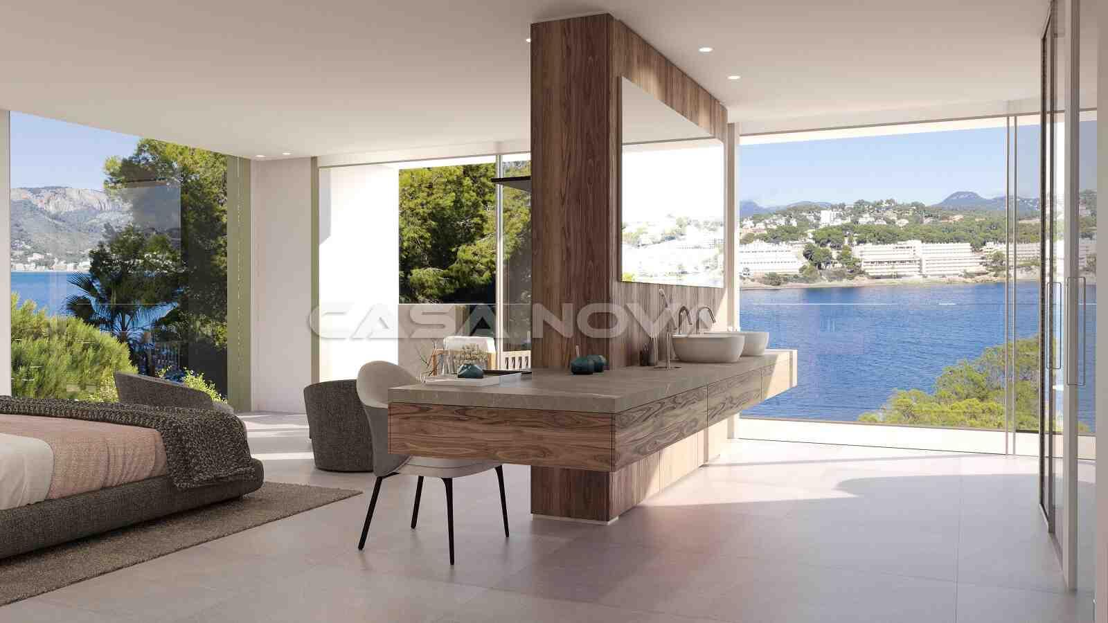 Großes Doppelschlafzimmer mit Terrassenzugang