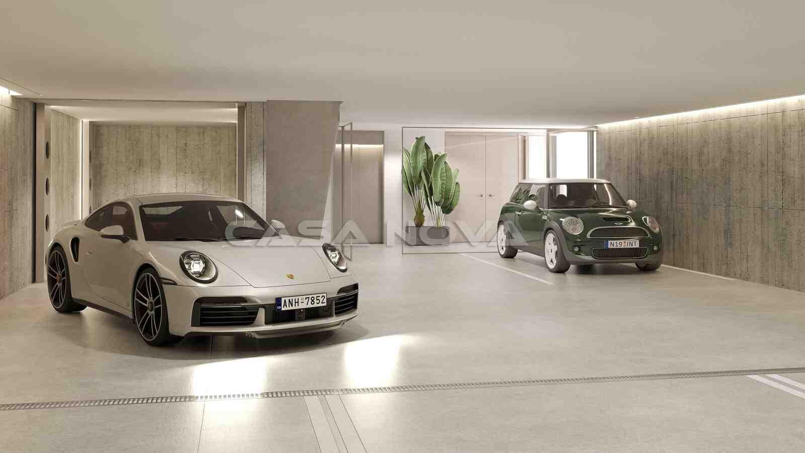 Einzigartige Garage für mehrere PKWs