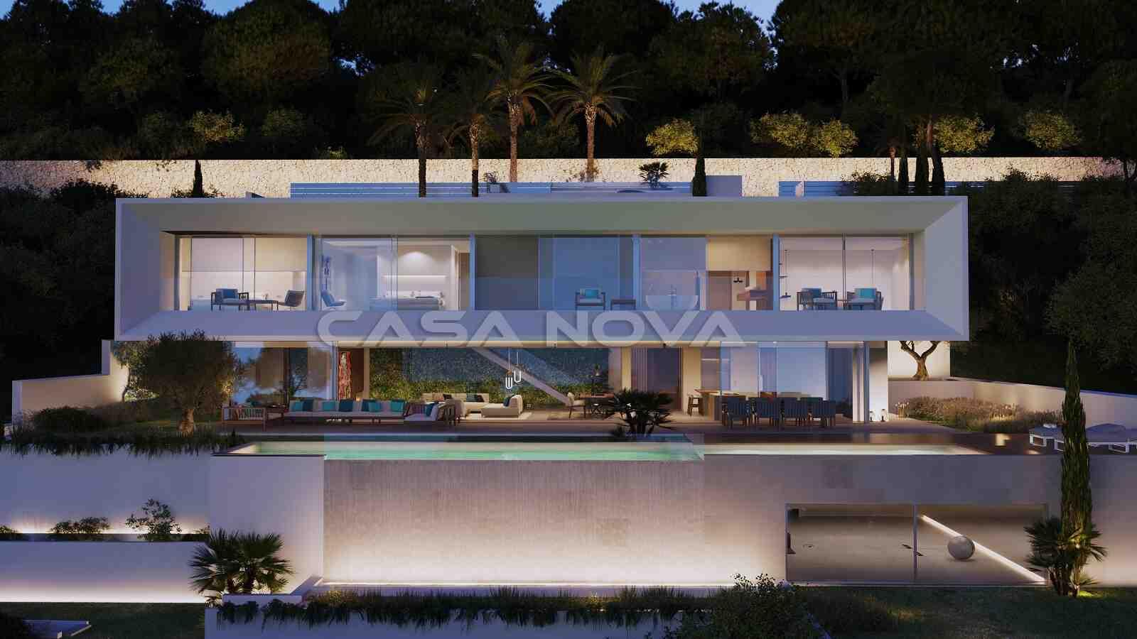 Eindrucksvolle Neubauvilla im modernen Stil
