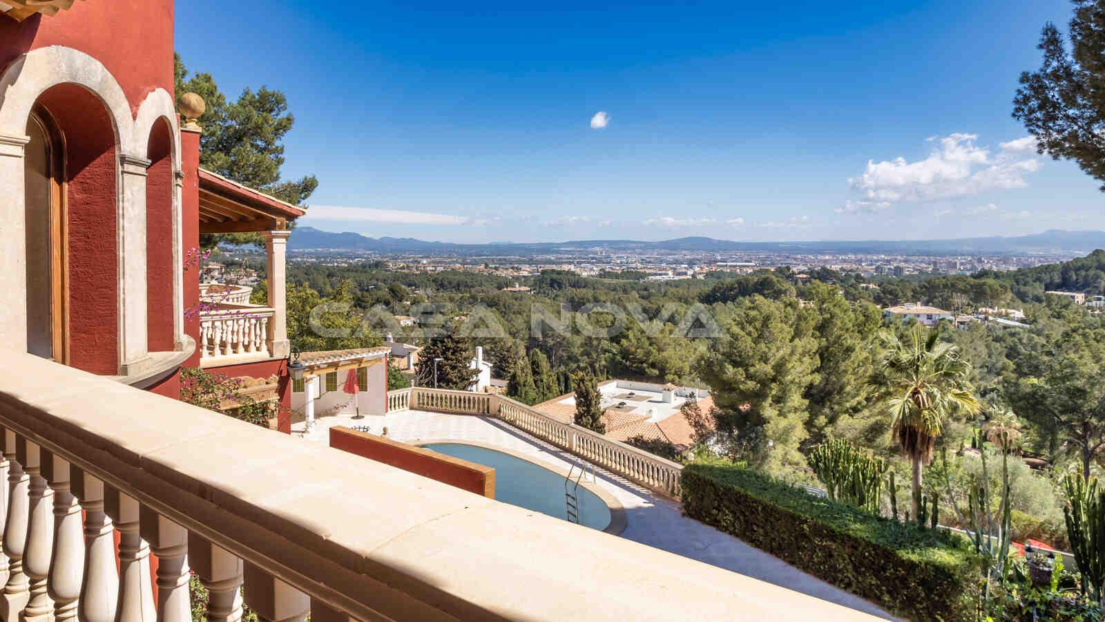 Mallorca Villa mit Panoramaweitblick auf das Meer