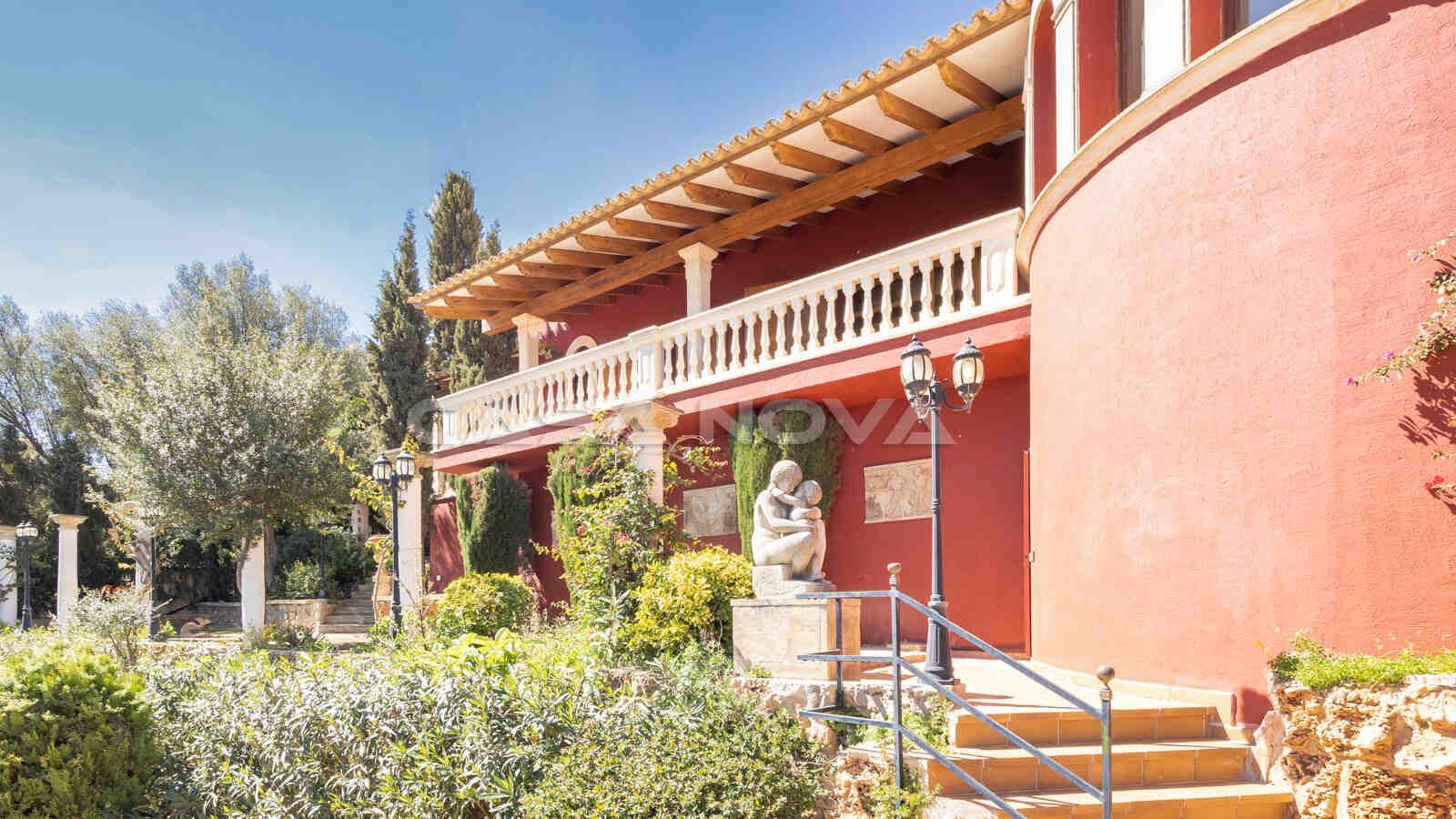 Einladender Eingangsbereich der Mallorca Villa