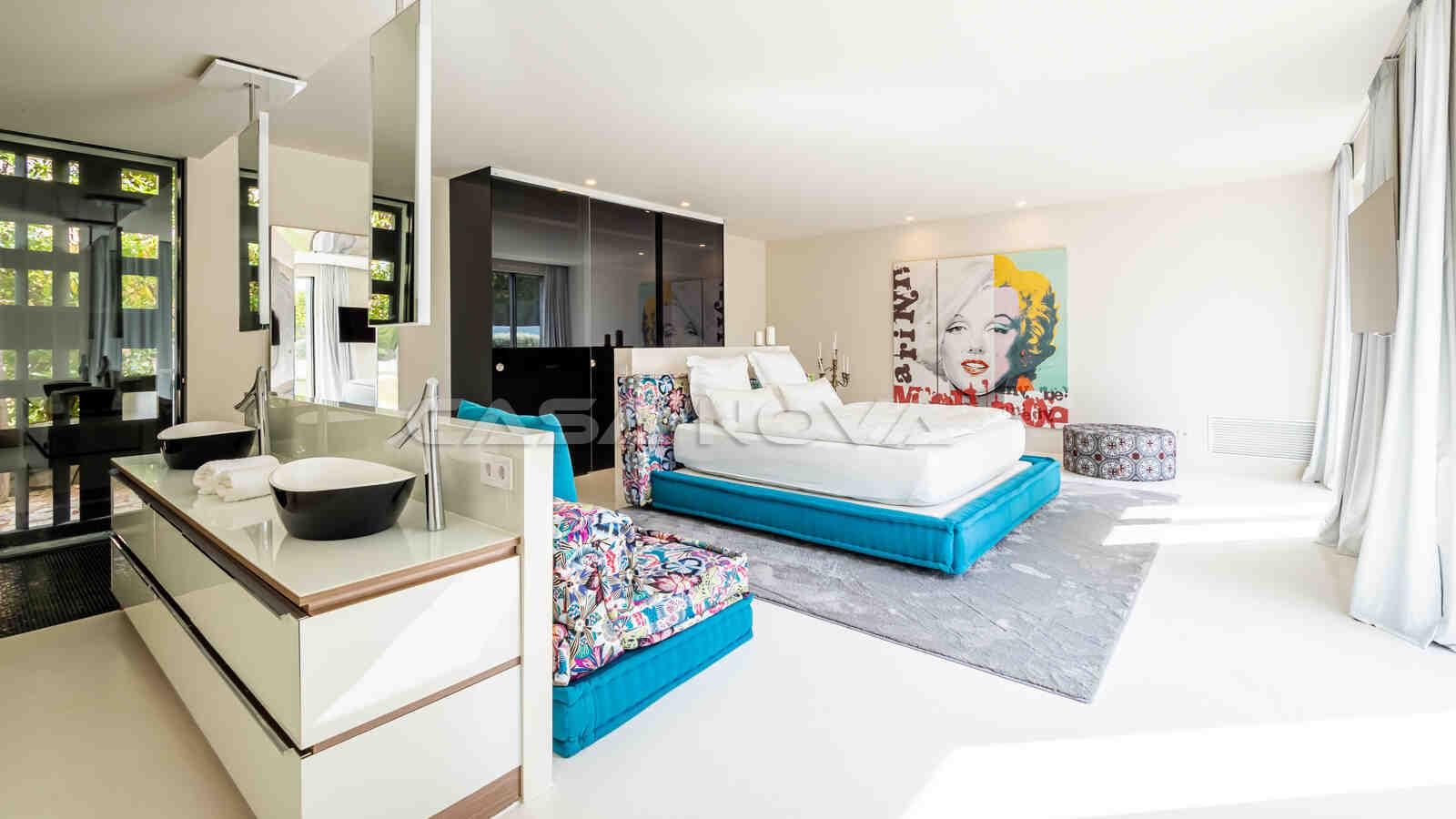 Charmantes Doppelschlafzimmer mit Bad en Suite