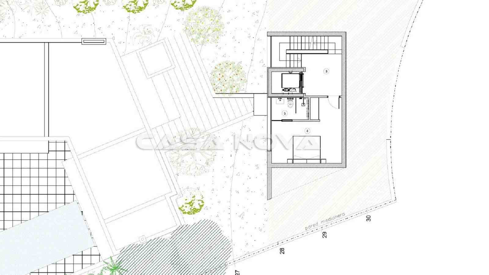 Plan des separat gelegenes Schlafzimmer