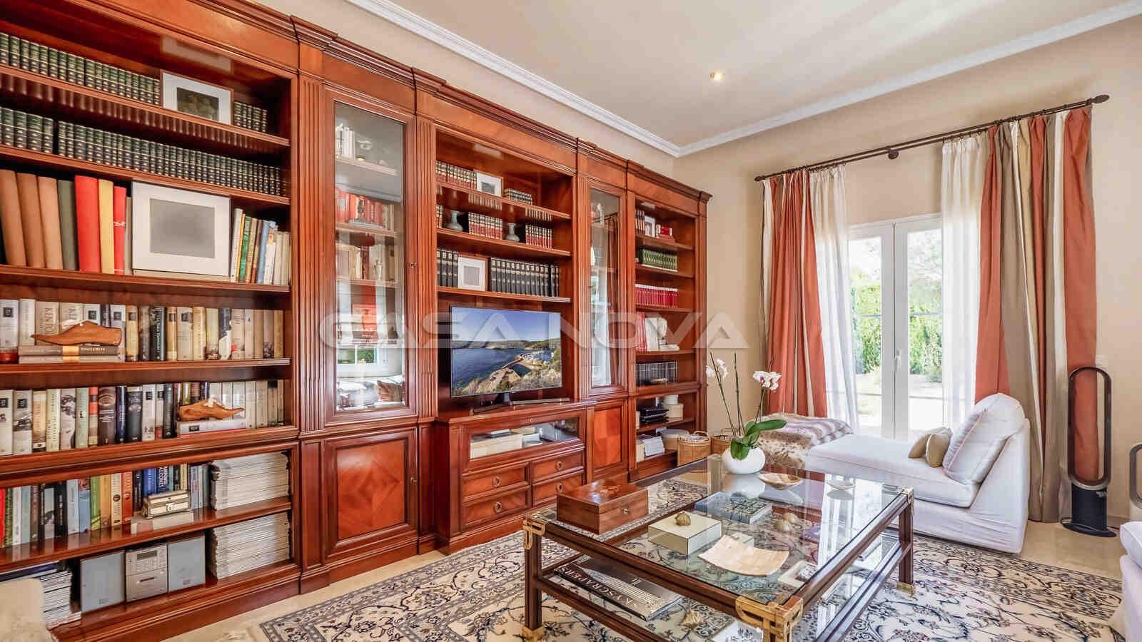 Separates Fernsehzimmer der Mallorca Villa