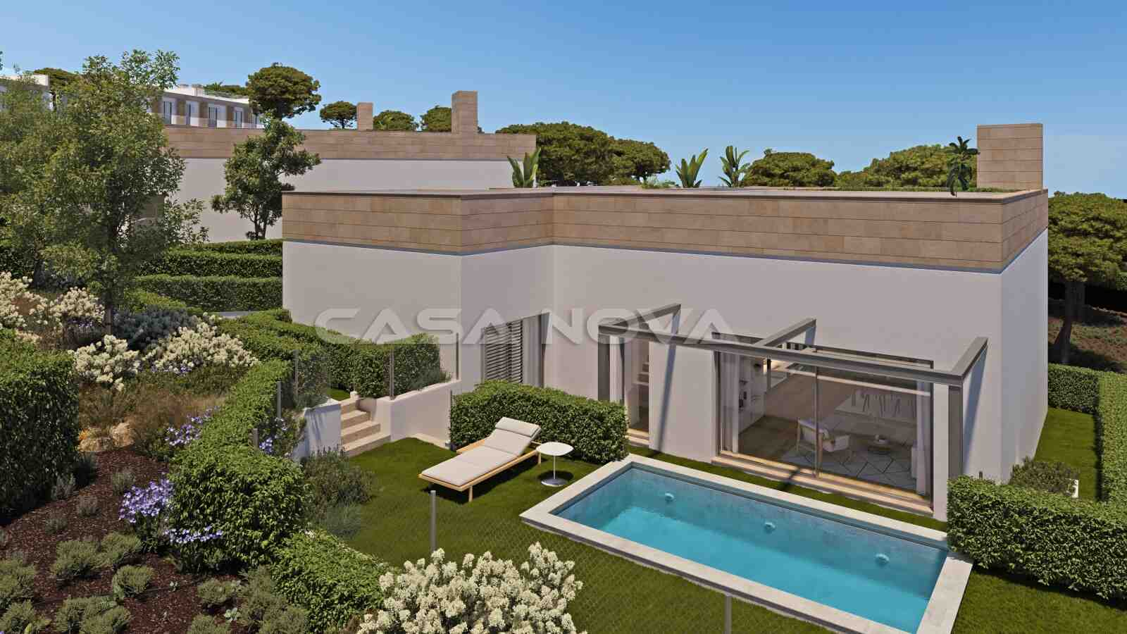 Moderne Neubauvilla mit Pool in ruhiger Lage
