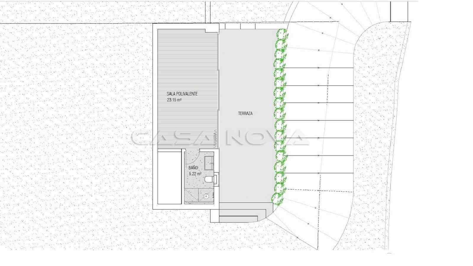 Plan vom Gästeapartment im Untergeschoss