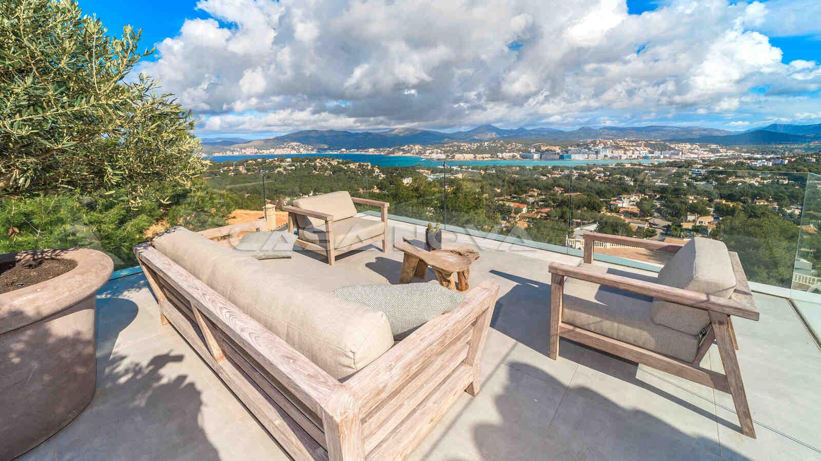 Meerblick Terrasse mit Chillout- Bereich