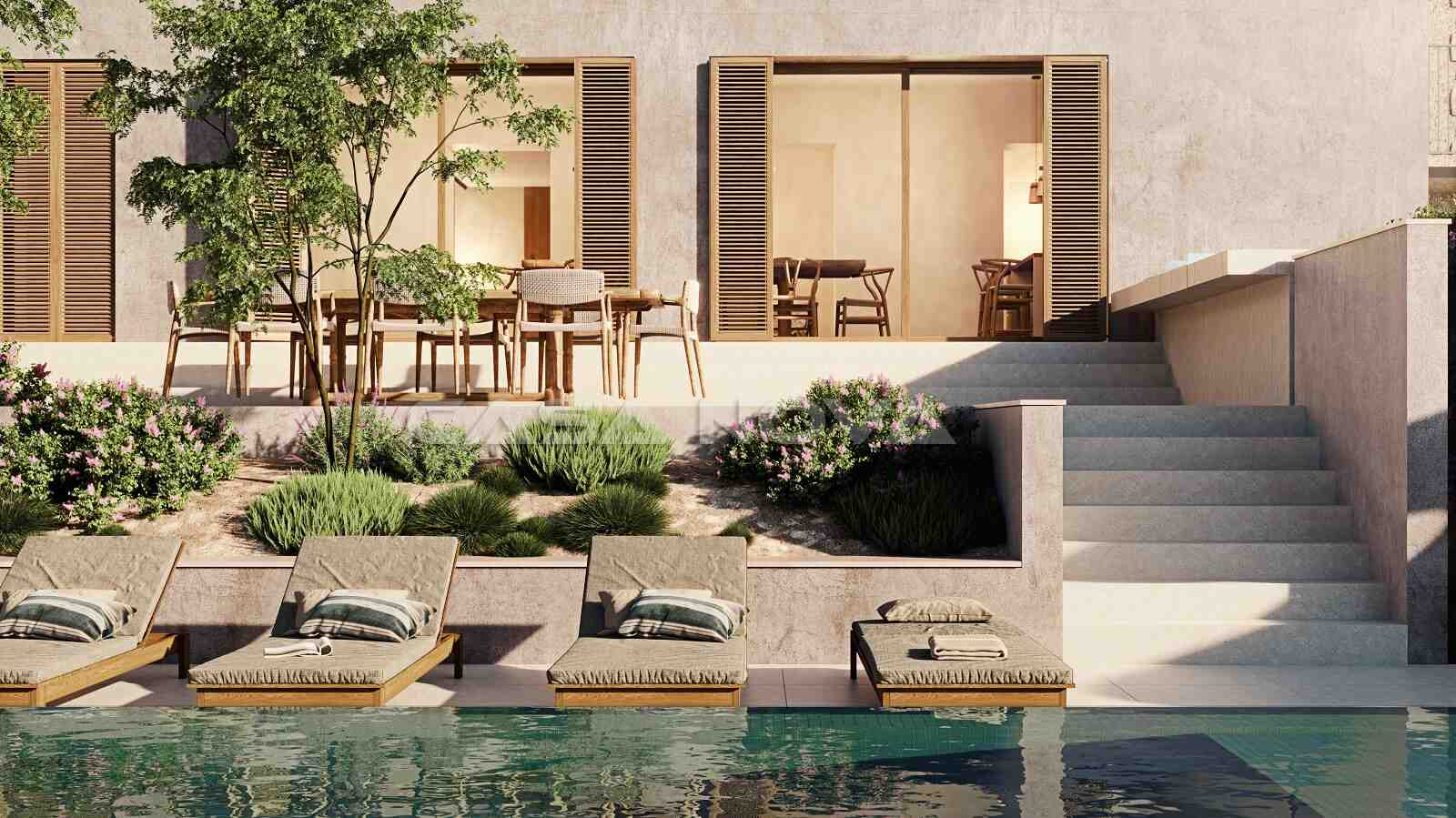 Luxus Immobilie mit Pool von bester Qualität