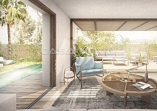 Neubau: Garten Apartment mit privatem Pool